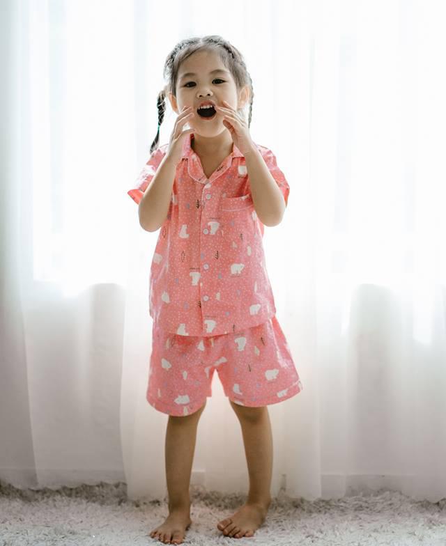 Bộ Pijama mặc nhà bé gái (Mây Hồng)