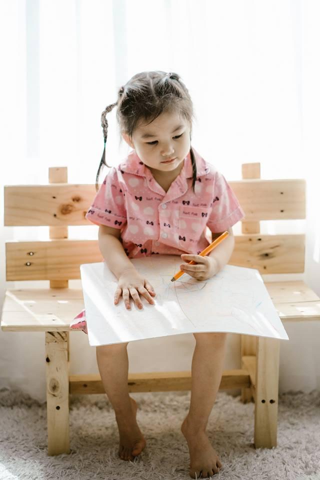 Bộ Pijama mặc nhà bé gái (Nơ Hồng)